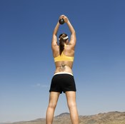 Both dumbbells and kettlebells can be used to perform a swing.