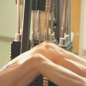 The leg press works your thighs and buttocks without hurting your back.