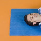 Savasana relaxes your body and mind after a yoga session.