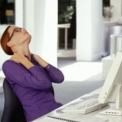 Practice good posture to avoid aches and pains.