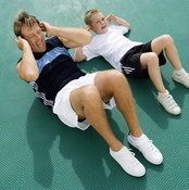 The abdominal crunch is beneficial to those of all ages.