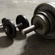 Use dumbbells or a barbell for triceps exercises.