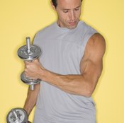 Tough workouts can lead to bulging veins.