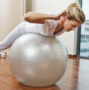 Exercise balls force you to work your stretch.