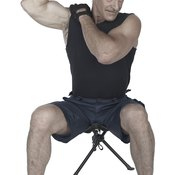 Shoulder muscles are small and don't require extremely heavy weights.