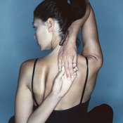 Open your chest to relax your shoulder blades.