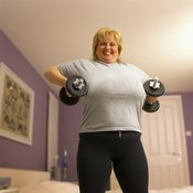 Toning your arms while you're losing weight may prevent sagging skin.