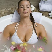 A warm bath soothes tired, sore muscles.
