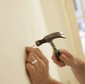A nail hammered directly into your wall may not support the weight of your skateboard.