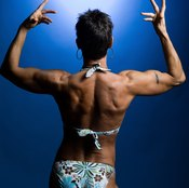 Female bodybuilders work out several hours a day.