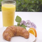 Croissants contain beneficial nutrients, including iron, but they're also high in saturated fat.