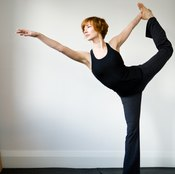 Balance poses strengthen your legs and your butt.