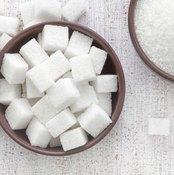 Two bowls of white sugar