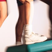 Make sure your entire foot is on the step during side-stepping exercises