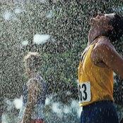 Rain can help cool you off as you run.