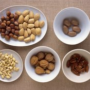Nuts make for a great high-calorie snack.