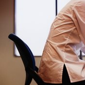Bad posture often creates a rounded back and shoulder area.