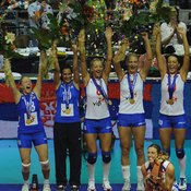 Volleyball championships are often decided by tournaments.