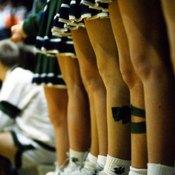 Leg flexibility is imperative in cheerleading.