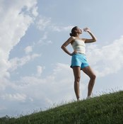Staying hydrated is important in warm and cold weather.