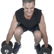 Use dumbbells to build strength for powerlifting.