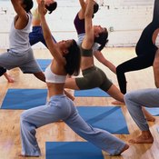 Standing poses are an important component of Moksha yoga.