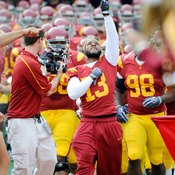 USC's Stafon Johnson made a miraculous comeback after a bench-press-related injury.