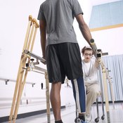 Isometric leg strength testing is used in physical therapy clinics.