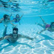 Protective goggles are always recommended to prevent eye injury while you swim.