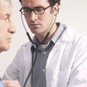 Man at doctor
