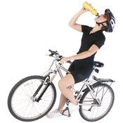 Cyclists need to replenish fluids and nutrients.