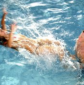 Playing in the pool is a fun way for teens to get exercise.
