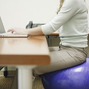 Sitting on an exercise ball for extended periods may cause discomfort.