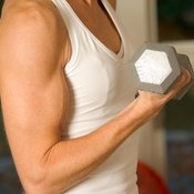 Increase biceps size with curls.
