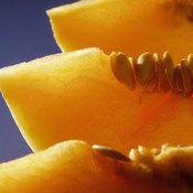 Cantaloupe is a rich source of vitamin A.