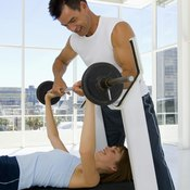 Always enlist a spotter when performing bench presses.