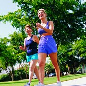Fast walking or fitness walking is a good exercise to tone buttock muscles.