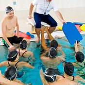 Many water aerobic classes use swim boards to add resistance to the exercises.
