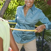 People of all ages can lose weight using hula hoops.