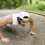 Add a pushup to your burpee to make it more challenging.