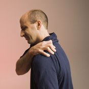 Shoulder pain due to overuse often limits range of motion.