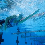The front crawl uses muscles in your shoulders, back, abdomen and legs.