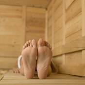 A sauna can help you lose water weight before a weight check.