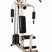 You can do a lat press with the same bar you'd use for a lat pulldown.