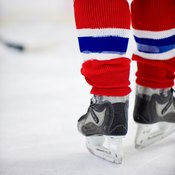 Leg soreness is common in intense hockey games.