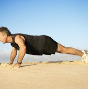 Pushups are a start-and-stop anaerobic exercise.