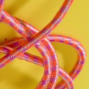 Chinese jump ropes are loops of elastic.