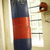 Homemade punching bags save you money while allowing you to work out.