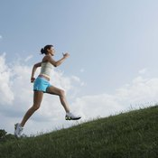 Uphill jogging increases glute activity.