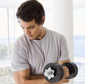 Lift weights to build your upper body muscles.